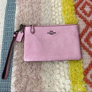 COACH | Metallic Pink Wristlet w/ Coach Hangtag